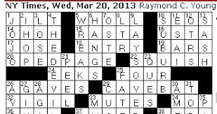 rex does the nyt crossword puzzle rum named for
