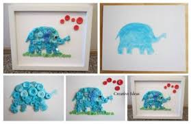 Elephant Decorations How To Make Cute Button Elephant Wall Decoration How To Instructions