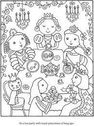 color u0026 cook tea party coloring book pages tea party