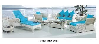 canapé de luxe design de luxe design moderne grand outoodr canapé ensemble pe rotin bleu