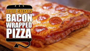 little caesar u0027s bacon wrapped deep deep dish pizza recipe remake