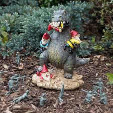 Dinosaur Christmas Lawn Decoration amazon com bigmouth inc the great garden gnome massacre patio