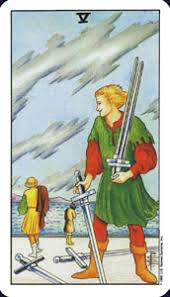meaning of the five of swords 5 in the minor arcana of the rider