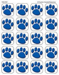 blue paw prints stickers tcr5747 teacher created resources