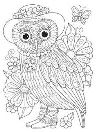coloring page for adults owl owl coloring page from thaneeya mcardle s groovy owls coloring book