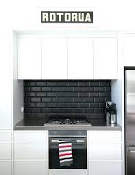 black kitchen tiles ideas black kitchen cabinets with subway tile snaphavencom black subway