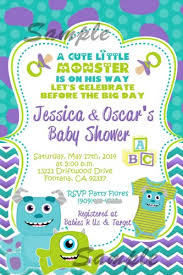 monsters inc baby shower ideas inc baby shower invitations cimvitation