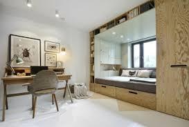 chambre alcove avec rangements