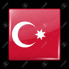 Ottoman Empire Flags Ottoman Empire Variant Flag Glassy Icon Square Shape This Is