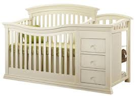 sorelle verona 4 in 1 convertible crib and changer french white
