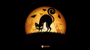 black halloween background cats leaves halloween moon ghosts bats smashing magazine
