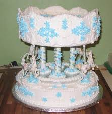 unique christening cake in white and blue patterns 2 comments hi