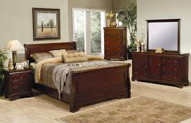 Ashley Bedroom Sets Versailles Sleigh Bedroom Set In Mahogany 201481