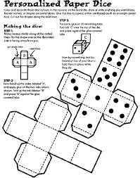 personalized paper dice coloring page crayola
