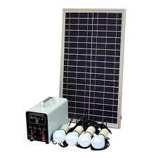 25w grid solar lighting system with 4 x 5w led lights solar