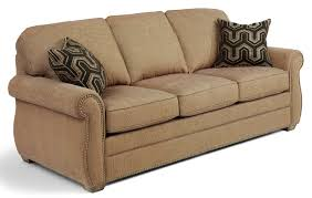 Flexsteel Sleeper Sofas by Flexsteel Whitney Sofa With Turned Arms And Wood Block Feet Dunk