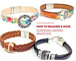 european bracelet designs images How to measure and make european leather bracelets with any clasp png