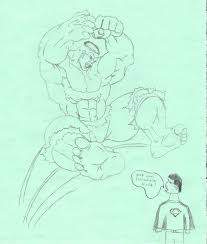 yeti speaks students draw incredible hulk poorly