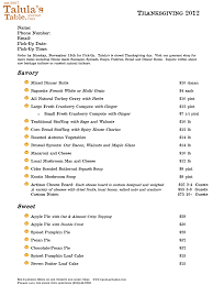 talula s table thanksgiving catering menu 2012 talula s table
