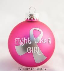 breast cancer ornaments chrismas 2017