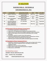 Naukri Com Update Resume Naukri Job Employment Cv Seletion U003d U003d U003d U003d Wanted For Al U2013 Muthawa