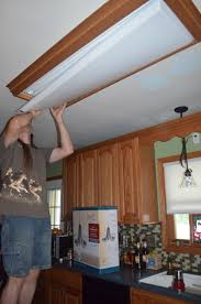 replace fluorescent light fixture in kitchen medium image for fascinating fluorescent light lens replacement 68