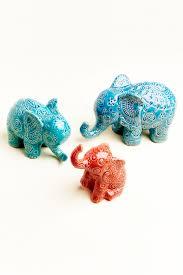 medium ceramic boho elephant earthbound trading co earthbound