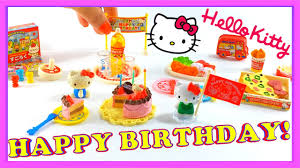 hello party hello birthday party set re ment miniature set