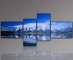 Modern Art Wohnzimmer Amazon De Wow Top Angebot Mountain Lake 55x160cm 4