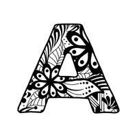 alphabet set in decorative style vector image 1544164