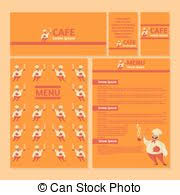 vector clipart of chef cook with menu chalkboard vector template