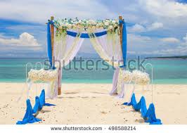 wedding arches bamboo wedding arch decorated flowers on stock photo 128226089