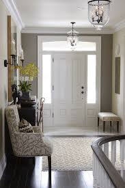 suzie sarah richardson design elegant foyer with gray walls