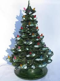 retro vintage ceramic table top christmas tree electric lights