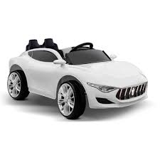 white maserati maserati inspired kids ride on sports car u2013 white u2013 kidscars
