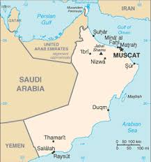 middle east map gulf of oman travelblog map of oman