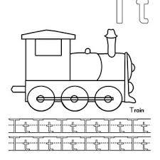 letter train coloring preschool kids bulk color