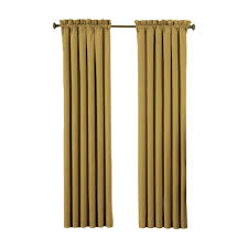 Gold Curtain Eclipse Dane Blackout Smoke Curtain Panel 63 In Length Price