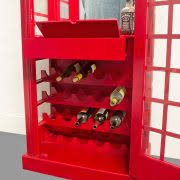Red Phone Booth Cabinet Red British Phone Booth Wood Wine Bar Cabinet Old Cast Iron Style
