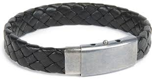 black woven leather bracelet images Lyst bottega veneta men 39 s woven leather bracelet in black for men jpeg