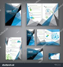 technical brochure template design abstract vector brochure template flyer stock vector