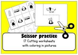 scissor skills cutting practice worksheets for preschool u0026 ot tpt