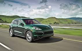porsche green 2013 porsche cayenne diesel first test motor trend