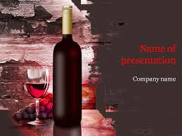 red wine powerpoint template u0026 background for presentation