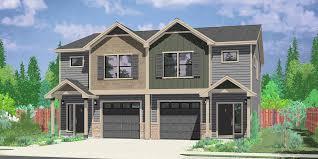 duplex homes narrow lot duplex house plans and zero line triplex row lots
