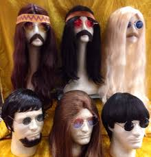 mens hippie hairstyles mens long hair hippie freak wigs mens 1960s wigs mens hippie