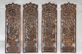dongyang wood carving pendant antique mahogany background wall