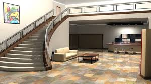 Living Room With Stairs Design Architecture Interior Design Kitchen Living Room Wallpaper