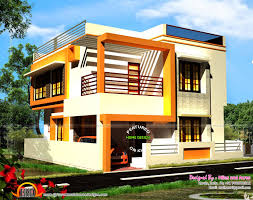 wide flat roof house with floor plan kerala home design and ground