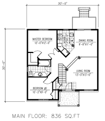 Craftsman Style House Floor Plans Craftsman Style House Plan 2 Beds 1 00 Baths 836 Sq Ft Plan 138 393